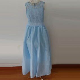 Vestido Largo Casual Fresco Encaje Floreado Moda Juvenil