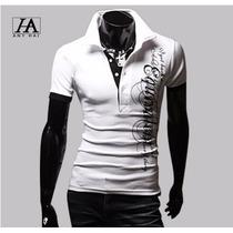 Camisa Polo Masculina Branca + Frete Grátis