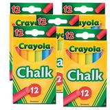 5 Caixas Giz Colorido P Quadro Negro Crayola 12 Cores