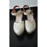 Zapatos Color Nude Taco Y Plataforma Vittoria 39