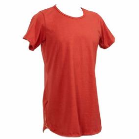 Camiseta Camisa Blusa Manga Curta Oversized Longline Ziper