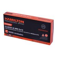 Clavos 20mm Hamilton X 5000 Un. Engrapadora Clavadora Clavo
