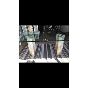 Mesa Jantar De Vidro Trizote Com Base De Mármore E 8 Cadeira