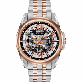 Bulova Men Automatic Watch Skeleton Hombre Relojes Diego Vez