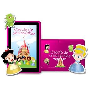 Tablet Navcity Princesas E Tradicional Cor Preta + Cabo Usb