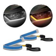 Fita Led Drl 60cm 3000k/6000k Flexível Dual Color Farol Par