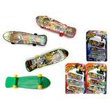 Skate De Dedo Hip Hop Com 3 Unidades Sortidos 9,5cm