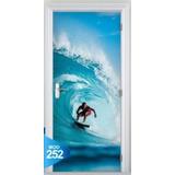 Adesivo 123 Porta Surf Mar Praia Prancha Onda Tubo