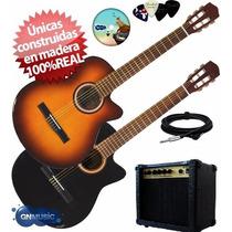 Guitarra Electro Criolla 1/2 Media Caja Ampli Funda Garantía
