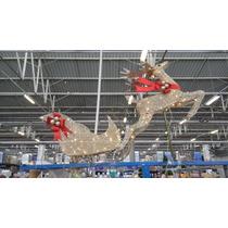 Conjunto De Rena E Trenó Ilumindado Decoração De Natal