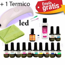 Kit 13 Esmaltes Gel Uv Led Tipo Gelish Mas Lampara De Led 9w