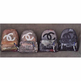Mochila Chanel Graffiti Canvas Destroyed - Mochilas no Mercado Livre ... e79ee608995