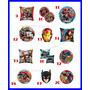10 Globos Centro De Mesa Souvenir Spiderman Avenger Batman