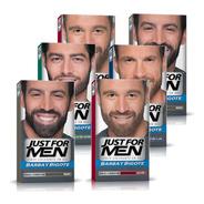 Just For Men Colorante Barba Y Bigote Cubre Canas Pack 6un