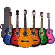 Guitarra Criolla De Estudio Varios Colores Con Funda Oferta!
