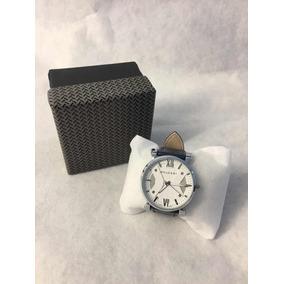 Reloj Bvulgari De Hombre Extensible Piel Color Azul