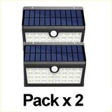 Pack X 2 Reflector Farol 60w Panel Solar Led Sensor 3 Modos