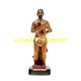 Escultura Exu Arranca Toco 20cm Imagem Estatua Gesso 100%