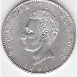 Ecuador, Antigua Moneda De Plata Dos Sucres 1.944