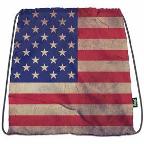 Bolsa Sacola Estampa Bandeira Dos Estados Unidas U.s.a
