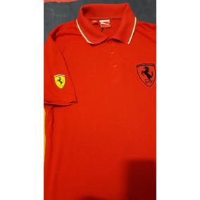 Polo Ferrari Vermelha Original Puma Usada