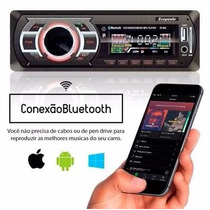 Rádio Automotivo Com Bluetooth Mp3 Player Fm Carro Som Usb
