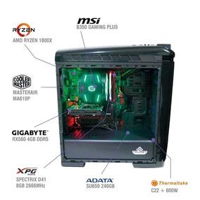 Pc Gamer Violet Tv03 Ryzen 7 1800x Rx 560 Ram 8gb