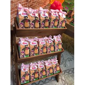 Kit Personalizados Masha E O Urso 30 Caixa Milk E 30 Tubete