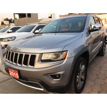 Jeep Grand Cherokee 2015 Plata Martillado Limited Lujo V6