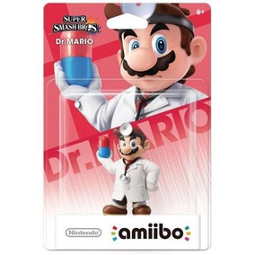 Boneco Amiibo Dr. Mario Super Smash Bros Wii U 3ds Original