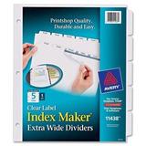 Avery Index Maker Extra Ancha Divisores Claro Etiqueta, Bla