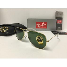Gafas Rayban Aviador Rb3025 Marco Dorado Luna Verde En Stock