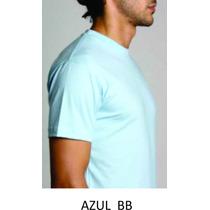 Camiseta Lisa 100% Algodao Fio 30.1 Varias Cores