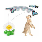 Juguete Eléctrico Rotativo Para Gatos De Mariposa