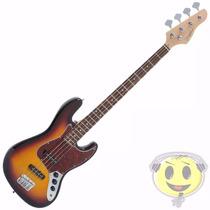 Baixo Giannini Gb 1 Sunburst Tortoise Jazz Bass - Kadu Som