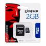 Kit 10 Cartão De Memória Kingston 2gb Micro Sd+adaptador