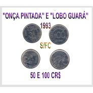 Moedas Onça Pintada E Lobo Guará 1993 Cod-276