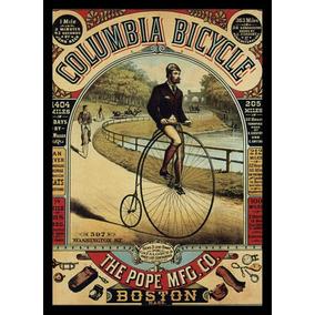 Quadro Retro Bicicleta Vintage Cartaz Moldurado