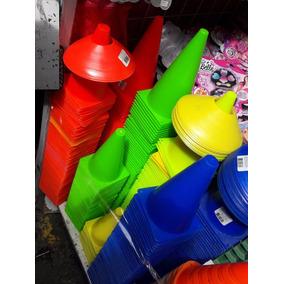 Docena Conos 23cm P/ Entrenmiento Futbol Basquetbol Colores