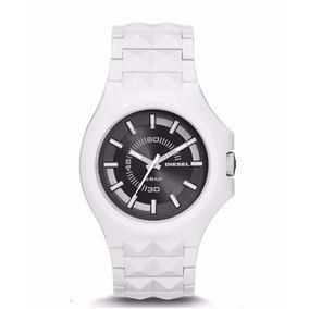 Oferta Diesel Reloj Blanco Redondo Metalico Envio Gratis