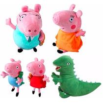 Família Da Peppa Pig + Dinossauro Do George Peppa Jorge Pig