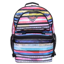 Mochila Feminina Roxy Bunny Brazilian Stripes Black