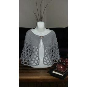 Capa Platinada Tejido Crochet