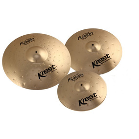 Kit Pratos Bronze B8 Bateria Krest Fusion Fset 14 16 20 Bag