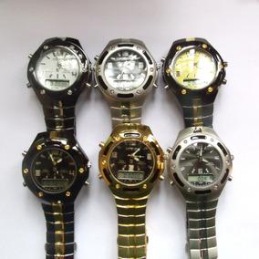 Relógio Masculino Potenzia Digital E Analogic,lote Com 6.