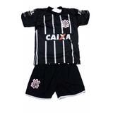 Conjunto Uniforme Corinthians Camisa E Shorts Infantil