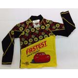 Camisa De Surf De Cars Negro Con Amarillo Para Niños