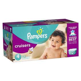 Pañales Pampers Cruisers,talla 4, 112 Pzs