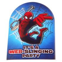 Kit Invitaciones Fiesta Hombre Araña 3d Con Sobre Spiderman