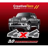 Kit 2 Calcos 4x4 Ford Ranger 2006-2011 + 3.0 Powerstroke